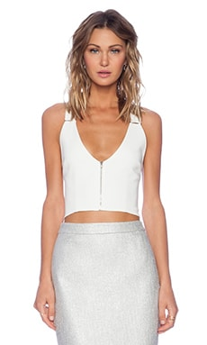 A.L.C. Bea Crop Top in White