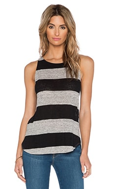 A.L.C. Lena Tank in Grey & Black