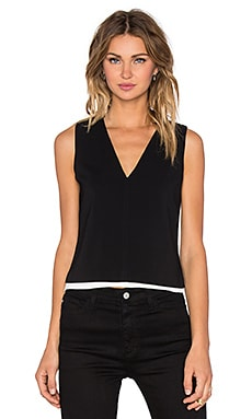 A.L.C. Lou Top in Black & White