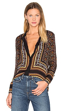 A.L.C. Franco Top in Brown Multi