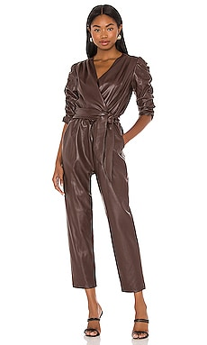 Annika Leather Jumpsuit Amanda Uprichard $260
