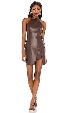 Raelynn Leather Dress Amanda Uprichard $216 NEW