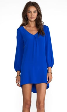 Bardot Dress with Tiffany Sleeve in Royal