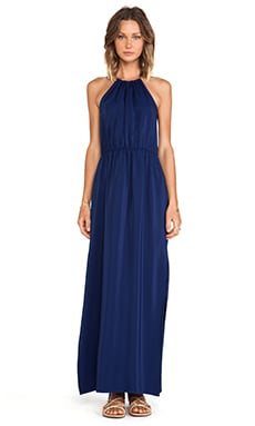 Chain Neck Maxi Dress in Navy