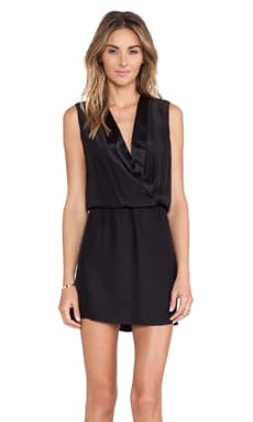 Amanda Uprichard Notch Collar Dress in Black