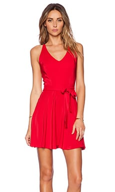 Amanda Uprichard Louisa Dress in Ruby