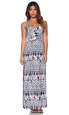 Amanda Uprichard Maxi Dress in Sand Dollar Print