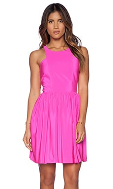 Amanda Uprichard Elle Dress in Hot Pink