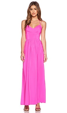 Amanda Uprichard Slit Gown in Hot Pink Light