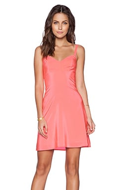 Amanda Uprichard Ali Dress in Fluro Pink