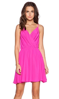 Amanda Uprichard Chelsea Dress in Hot Pink Light