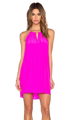 Amanda Uprichard Chain Dress en Rose Éclatant