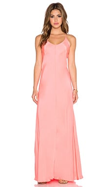 Amanda Uprichard X Back Maxi Dress in Neon Ballet