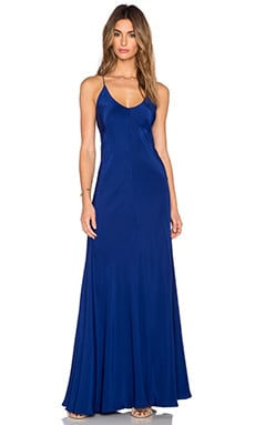 Amanda Uprichard X Back Maxi Dress in Sapphire