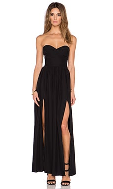 Amanda Uprichard Gisele Maxi Dress in Black