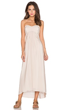 Amanda Uprichard Tie Back Maxi Dress in Bone