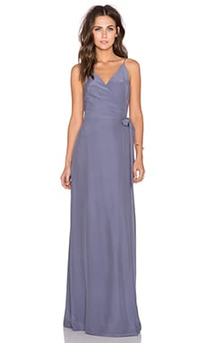 Amanda Uprichard Alexandria Maxi Dress in Pewter