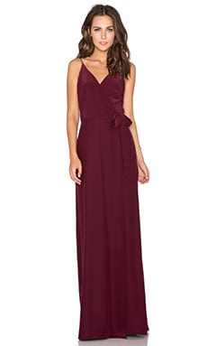 Amanda Uprichard Alexandria Maxi Dress in Wine