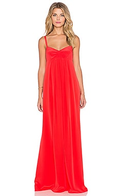 Amanda Uprichard Chantelle Maxi Dress in Apple Red
