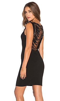 Amanda Uprichard Stevie Fringe Dress in Black