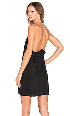 Amanda Uprichard x REVOLVE Y Back Rhinestone Dress in Black Matte