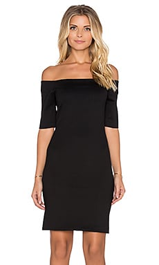 Amanda Uprichard Electra Mini Dress in Black