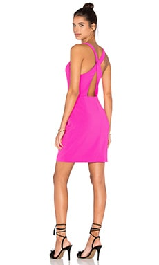 Amanda Uprichard Santiago Dress in Hot Pink