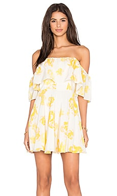 Amanda Uprichard Delilah Dress in Yellow Rose