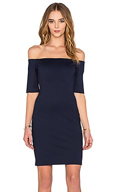 Amanda Uprichard Electra Mini Dress in Navy