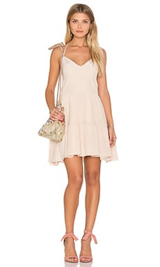 Amanda Uprichard Adelaide Mini Dress in Bone