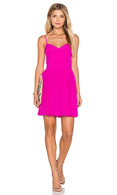 Amanda Uprichard Mai Tai Mini Dress in Hot Pink Light