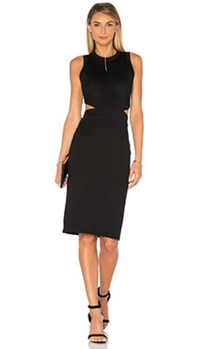 Amanda Uprichard Shaina Dress in Black
