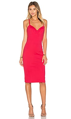 Amanda Uprichard Camille Dress in Electric Rouge
