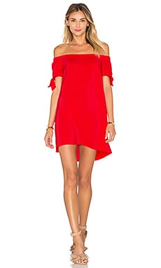 Amanda Uprichard Desiree Mini Dress in Candy Apple