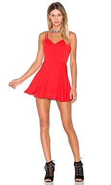 Marie Mini Dress en Candy Apple