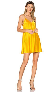Deep V Slip Dress in Marigold