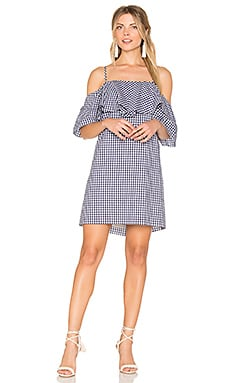 Marise Dress in Navy Gingham