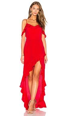 Купить Макси платье peony - Amanda Uprichard красного цвета