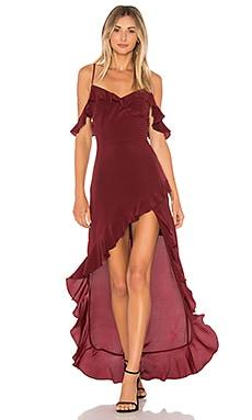 Купить Макси платье peony - Amanda Uprichard, Асимметричный подол, США, Ржавый