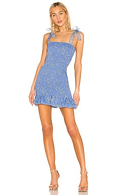 X REVOLVE Amara Smocked Mini Dress Amanda Uprichard $117