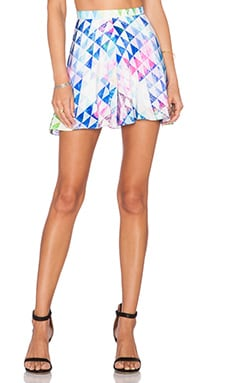 Amanda Uprichard Circle Short in Crystal Geo Print