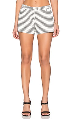 Amanda Uprichard Ponte Short in Pinstripe