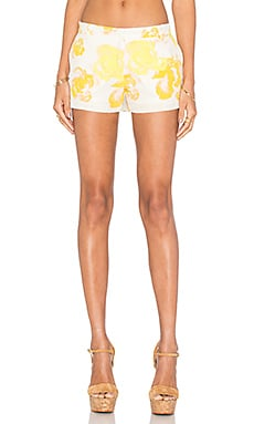 Amanda Uprichard Queen Short in Yellow Rose
