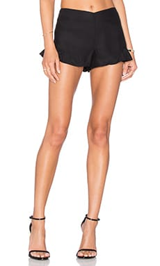 Amanda Uprichard Carmen Short in Black