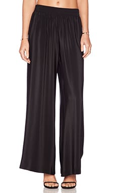 Amanda Uprichard Wide Leg Pants in Black