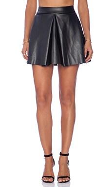 Amanda Uprichard Box Pleat Skirt in Black