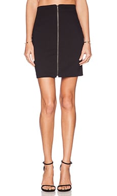 Amanda Uprichard Zip Front Skirt in Black
