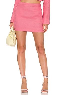X REVOLVE Linen Pembroke Skirt Amanda Uprichard $121