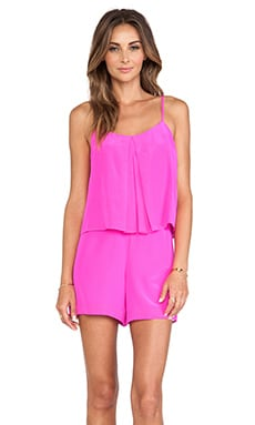 Amanda Uprichard Summer Romper in Hot Pink