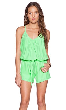 Amanda Uprichard Chrissy Romper in Mojito